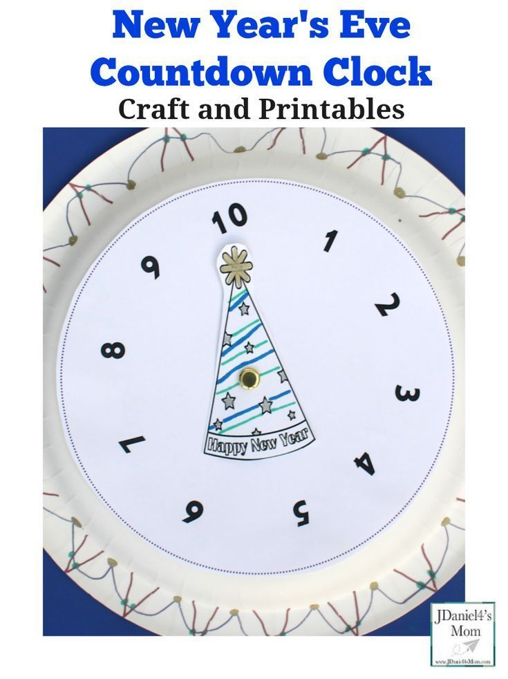 New Year S Eve Countdown Clock Craft And Printables New Year S
