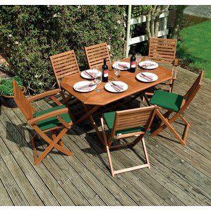 Plumley Outdoor 7 Piece Dining Set