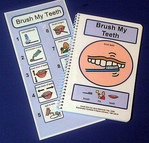 Brush My Teeth - PECS Autism Social Skills Story - ABA Autism Visual Aid