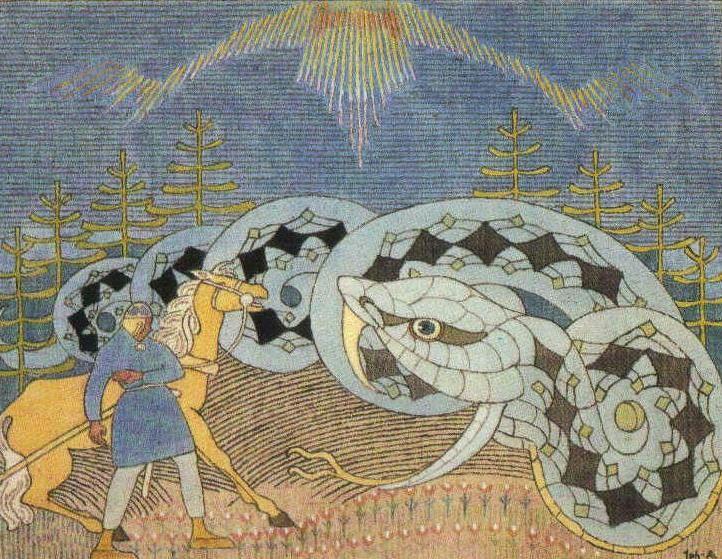 Runot 18-19  kalevala kuvataide Ilmarinen ja pohjolan neito - Google-haku