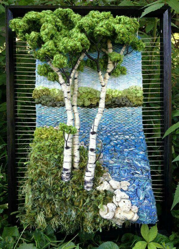 dimensional tapestry weaving