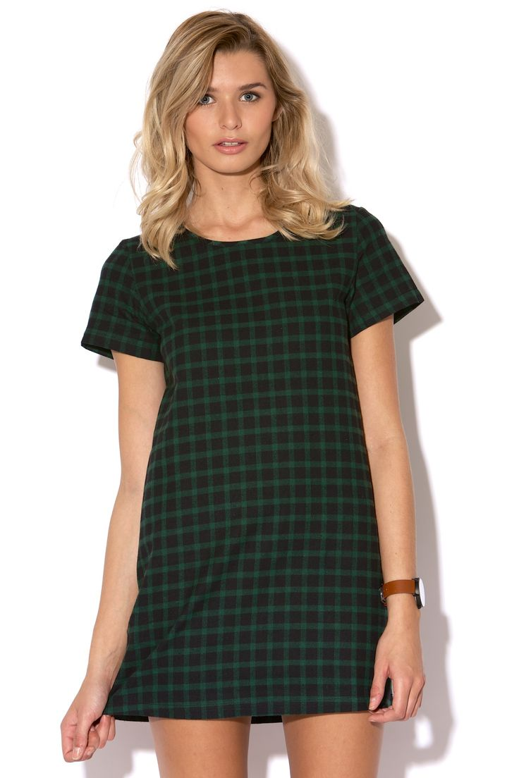 PARE BASIC Plaid Shift Green from Universal Store