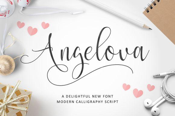Angelova Script by ianmikraz on @creativemarket