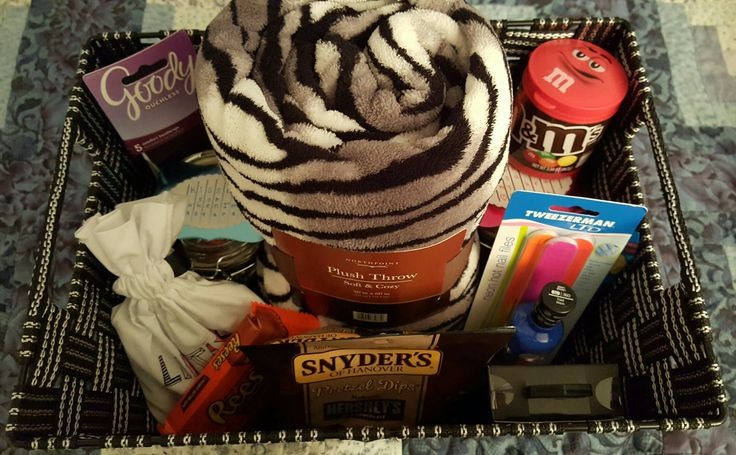 Teenage Girl Birthday Gift Basket (helped my son - his idea for his gf's b-day)