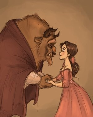 tale as old as time.: Princesses Belle, Beautiful Beast, Disney Fairies, Disney Princesses, Disney Art, Fans Art, The Beast, Fairies Tales, Disney Movie