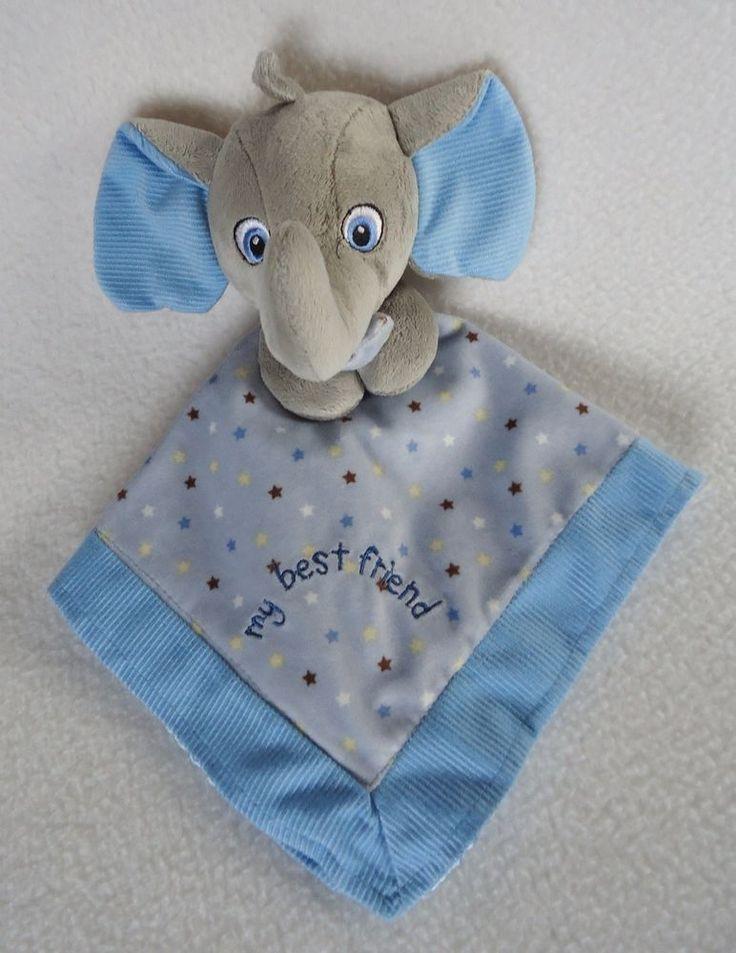 Garanimals Blue Elephant Baby Security Blanket Lovey Stars