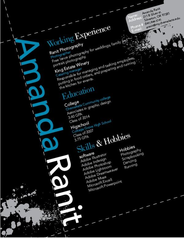 graphic design resume i designed resume help