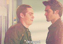 teen wolf quote Derek and stiles. Oh my god! Haha