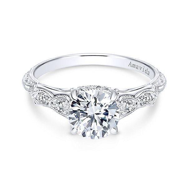 Vintage Engagement Rings Austin Tx Round Diamond