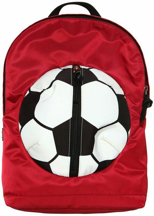 Soccer ball shaped front pocket, kid bag, boy present