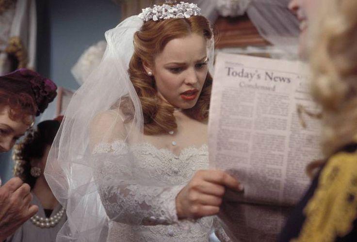 Rachel McAdams Wedding Dresses and the silver screen, movies, Marilyn Monroe, Audrey Hepburn, Kirsten Dunst, Catherine Deneuve