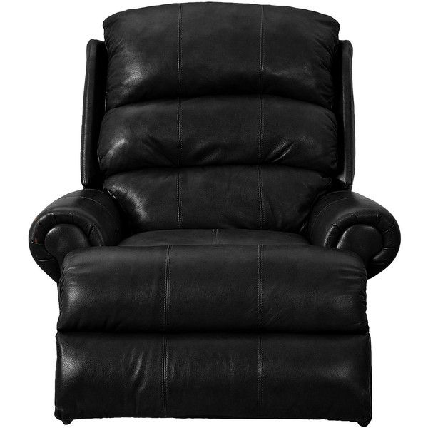 norman fauxleather recliner liked on polyvore featuring home furniture swivel rocker
