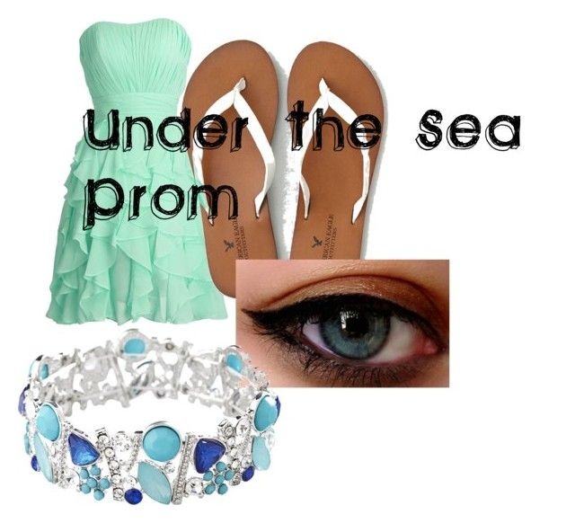 """""""Under the Sea Prom"""" by flade-cw on Polyvore featuring American Eagle Outfitters, Avenue, women's clothing, women, female, woman, misses and juniors"""