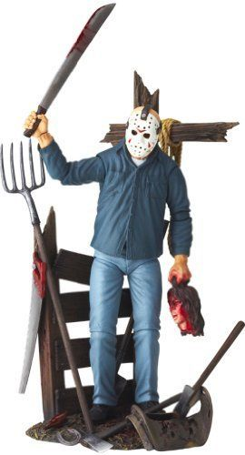 Friday the 13th Revoltech SciFi Super Poseable Action Figure Jason Voorhees by Kaiyodo @ niftywarehouse.com #NiftyWarehouse #Horror #Movies #FridayThe13th #Jason