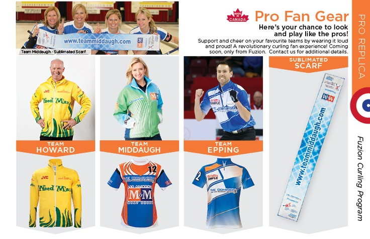 Pro Fan Gear! Replica Curling gear coming soon! Look and play like the pros!