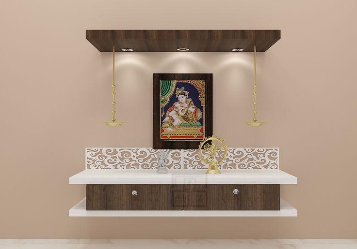 Crocus Puja Unit with Laminate Finish