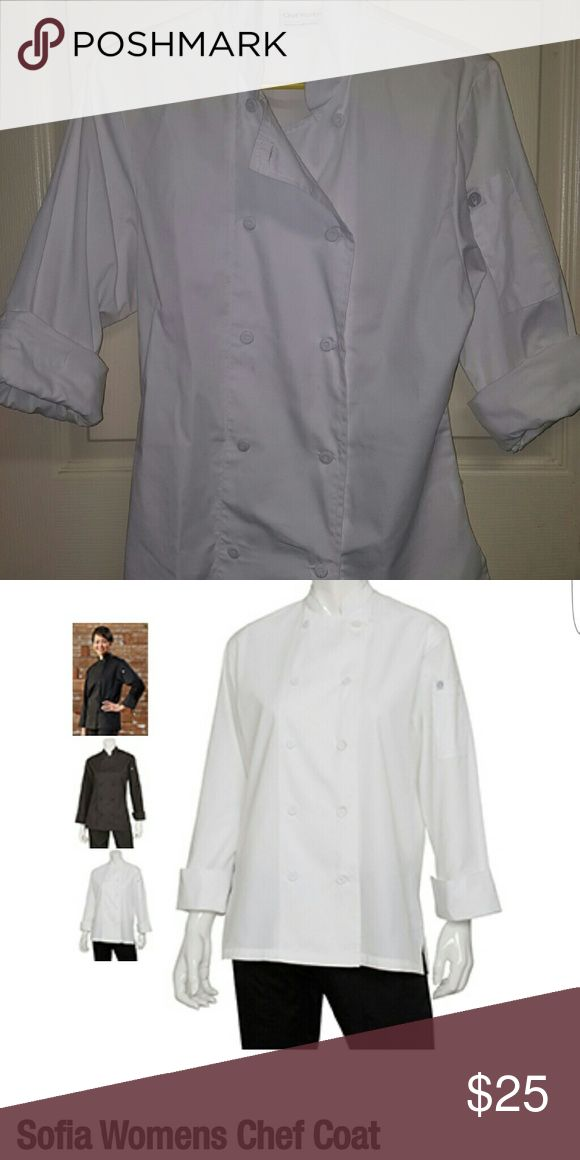 CHEF WORKS chef coat Long sleeve chef coat with light weight breathable fabric. Like new Chef Works  Jackets & Coats