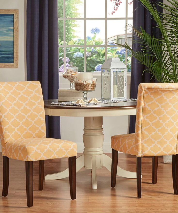 HomeBelle Yellow Starlite Moroccan Accent Chair