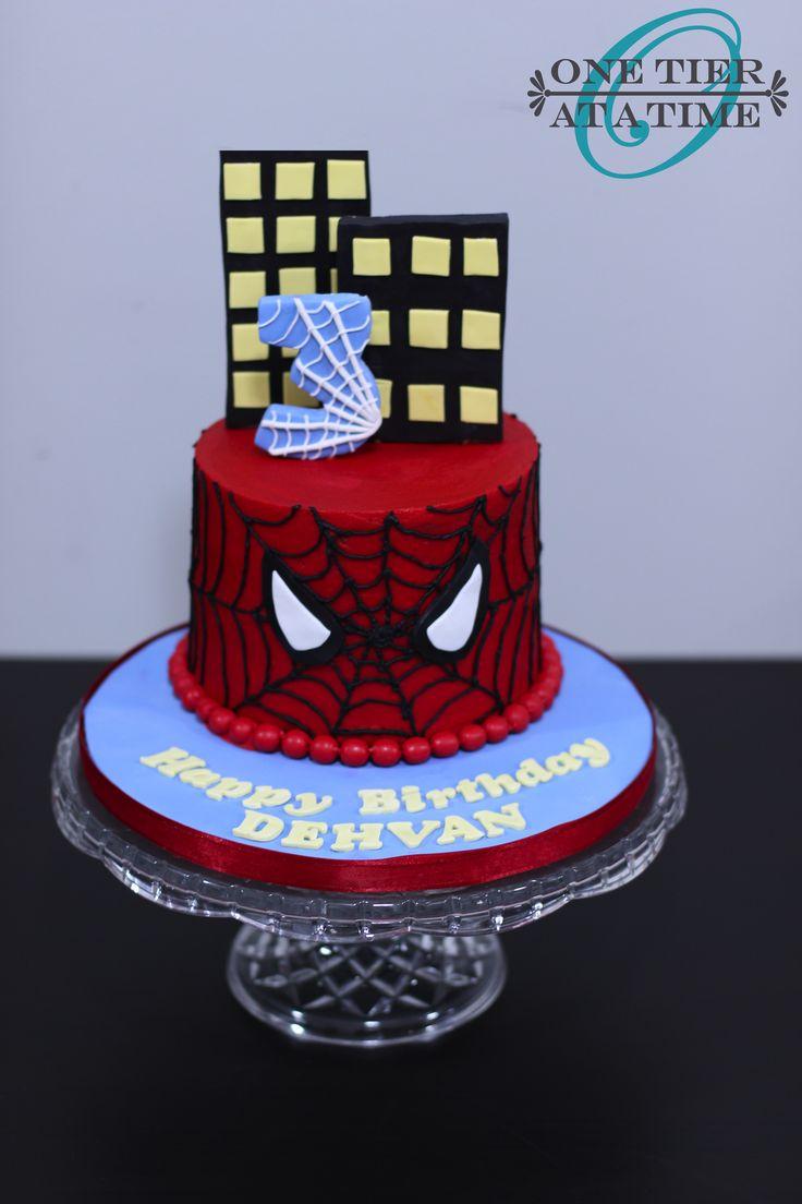 Spiderman buttercream cake