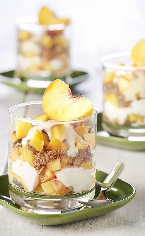 Trifle van perzik met speculaas
