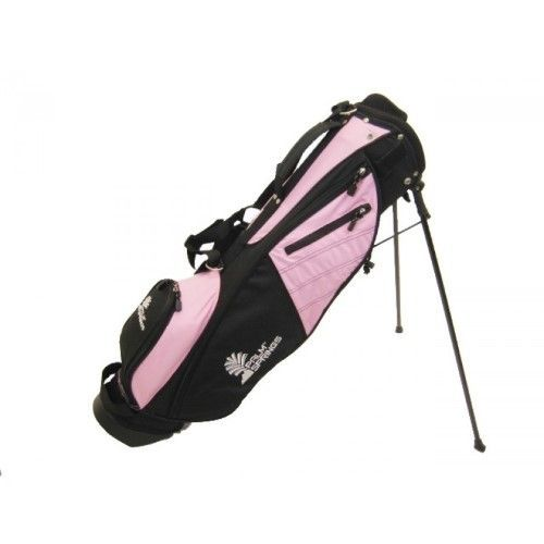 Palm Springs Sunday Golf Bag w/stand Pink/Black