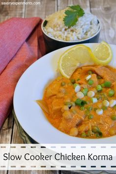 The 25 best slow cooker chicken korma ideas on pinterest easy healthy slow cooker chicken korma recipe a yogurt and red curry based sauce with coconut milk ginger peas and lemon so good and it only takes forumfinder Gallery
