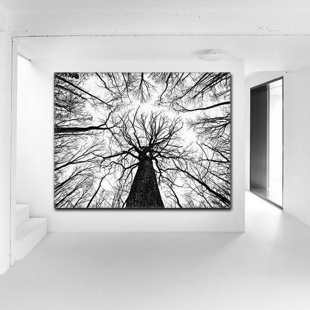 Wall decor black and white - decoración blanco y negro - Impresión digital - en DaWanda.es