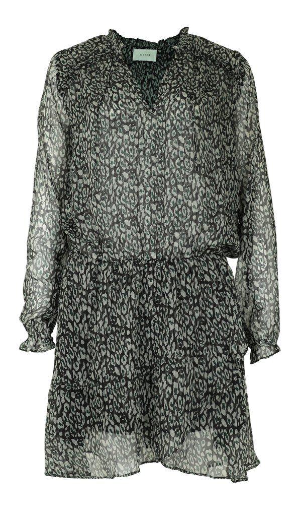 neo noir leopard nederdel