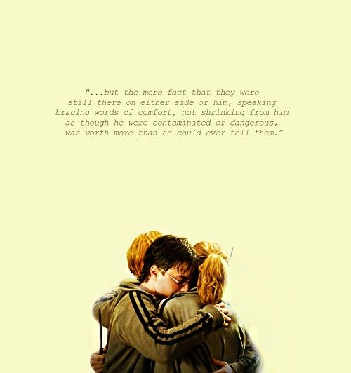 Golden trio will always be a part of me #Harrypotter #goldentrio #harry #ron #hermione #quotes