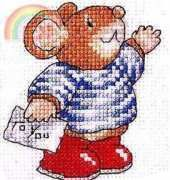 Country Companions Tom Mouse To You The World of Cross Stitching  Issue 73 July 2003 Saved