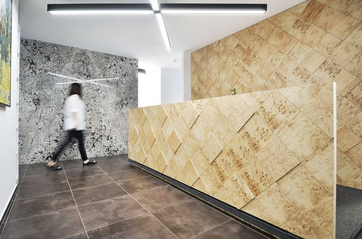 Corporate offices interior design in Bucharest - #interior #interiordesign #corporate #offices #marble #wood #furniture #shelving #architecture #minimal #reflection #lobby
