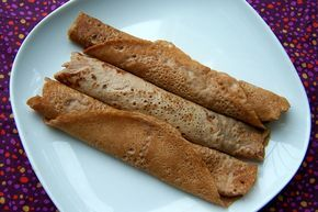 Crêpes met kastanjemeel, veganistisch, zonder ei, zonder melk ik zou dan glutenvrij meel gebruiken!