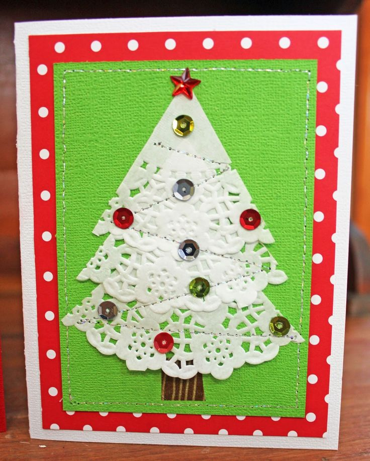 Doodlebug Design Inc Blog: Easy to Duplicate Christmas Doily Cards