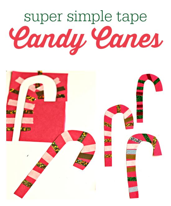 candy cane craft for kids