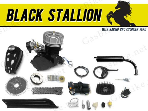 Gas Scooters 75211: Black Stallion 66Cc/80Cc Bicycle Engine Kit Gas Motorized Bicycle BUY IT NOW ONLY: $178.0