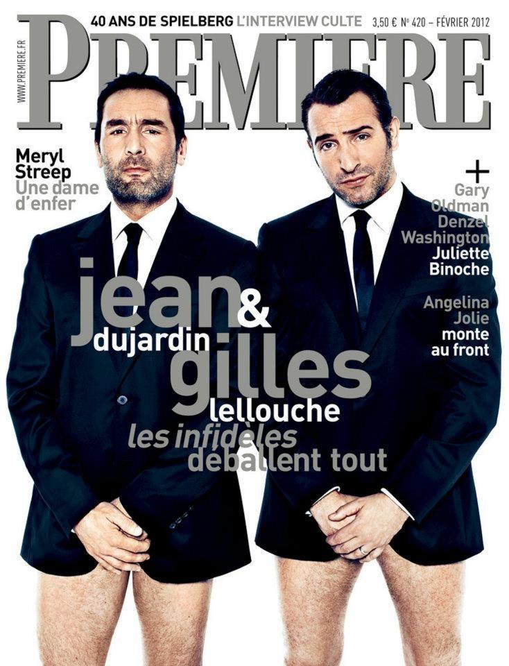 Jean Dujardin et Gilles Lellouche en couverture de Première.