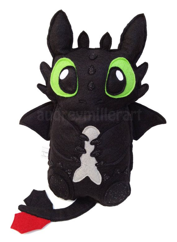 Hey, I found this really awesome Etsy listing at https://www.etsy.com/listing/210580440/handmade-felt-toothless-plush-toy-how-to