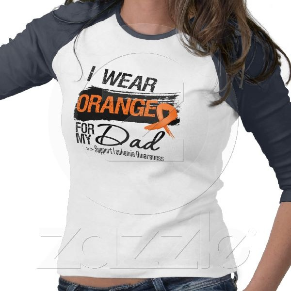 Leukemia Ribbon For My Dad Tshirts from Zazzle.com