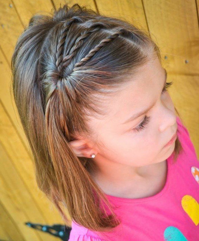 coupe de cheveux fille carré, coiffure cheveux courts