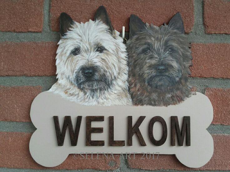 Welkomsbord Mungo en Selena www.selena-art.nl
