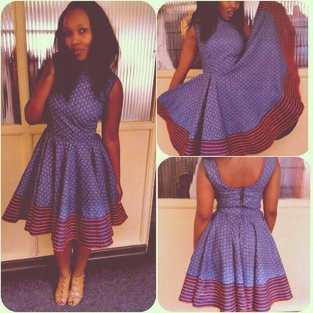 Shweshwe traditional skirt fashion designer 2016