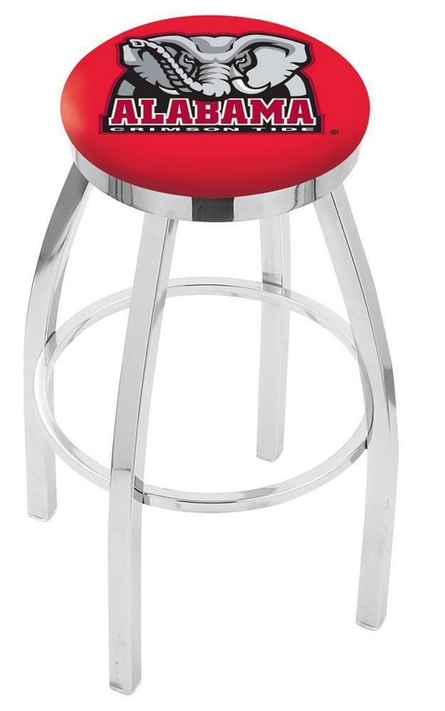 Alabama Crimson Tide Bama Barstool Chrome Kitchen Chair