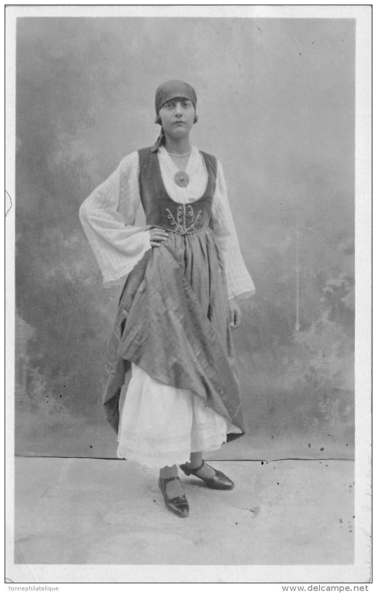 Femme - Crète   www.delcampe.fr/fr/collections/cartes-postales/grece/grece-carte-photo-femme-crete