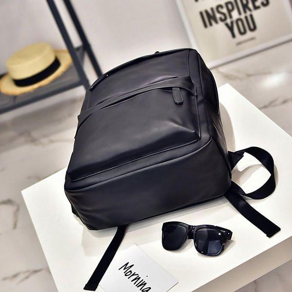 Men Women PU Leather Retro Leisure Travel Backpack Laptop Bag Student Mochila Tr - US$46.41