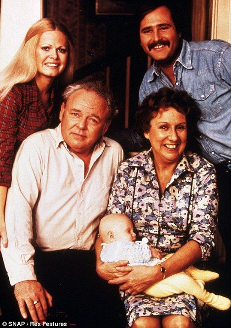 Sally with Carroll O'Connor, Rob Reiner, Jean Stapleton in All In The Family in 1983