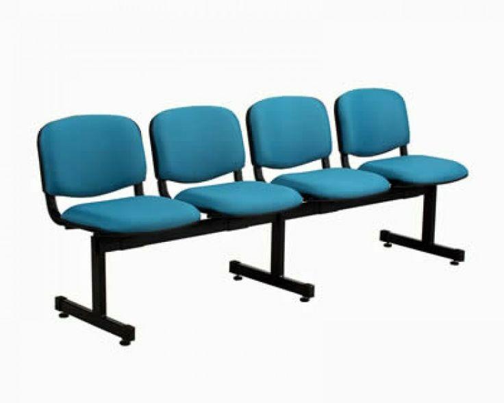Tandem Tapizado espaldar y asiento de 4 Puestos.