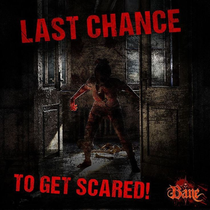 It is the last weekend until Halloween! Come down to Bane and celebrate Halloween at NJs #1 scariest haunted house! We are open tonight from 7 pm-12 am!  Tickets available at the front gate or online at http://ift.tt/1pclac5!!