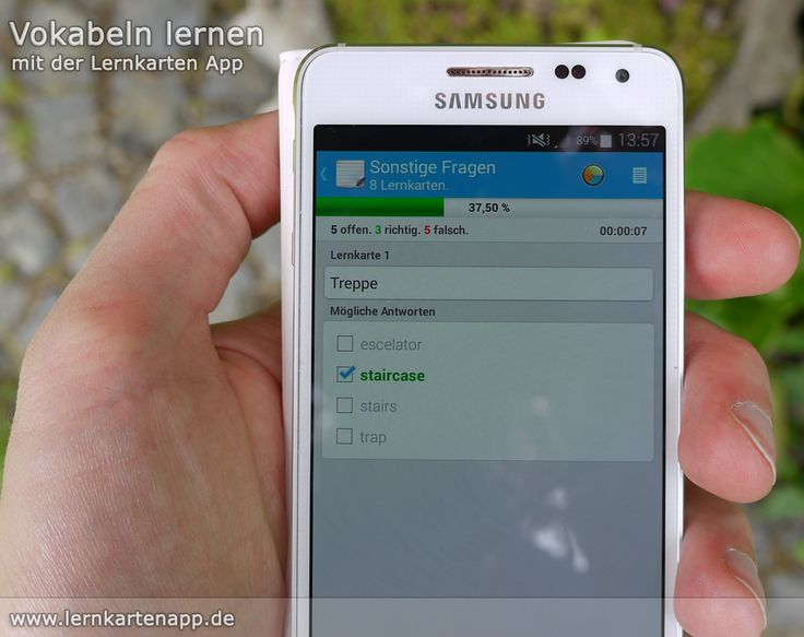 Die Lernkarten App für #Android - dein #Vokabeltrainer für unterwegs. Ganz einfach für den nächsten #Vokabeltest oder deine #Klausur oder #Prüfung #lernen.