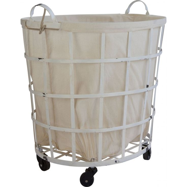 These metal laundry baskets offer generous storage capacity, ease of storage and an impressive design.