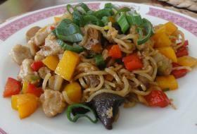 Jak uvařit čínské nudle s masem   recept